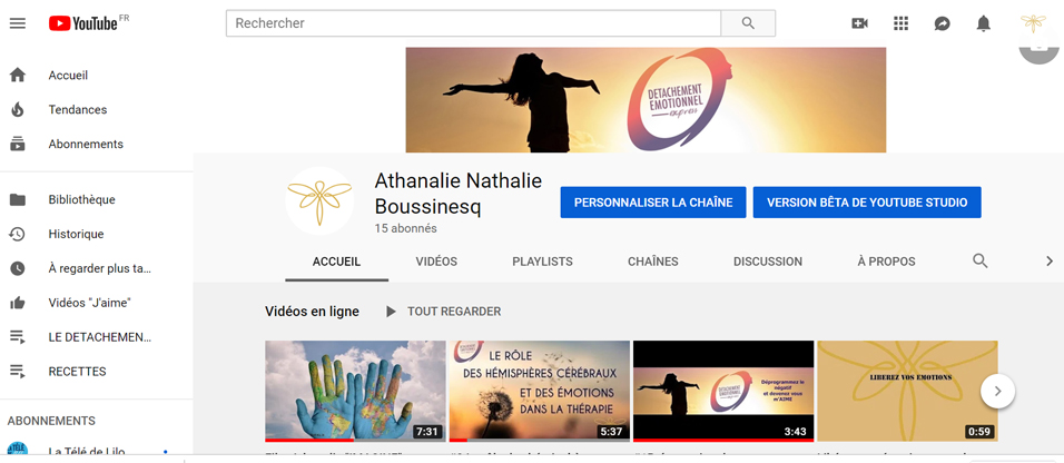 chaine youtube athanalie