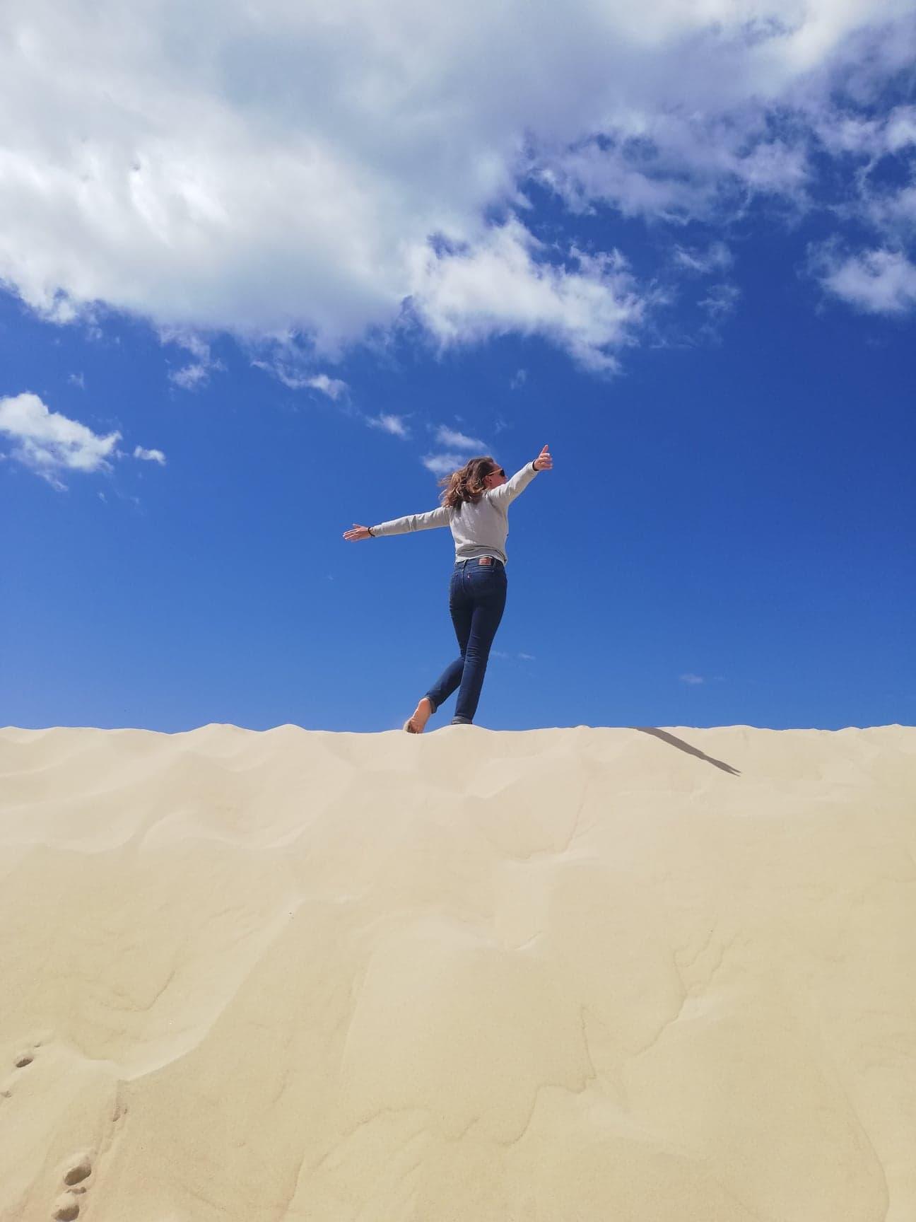 nathalie boussinesq sur la dune pila
