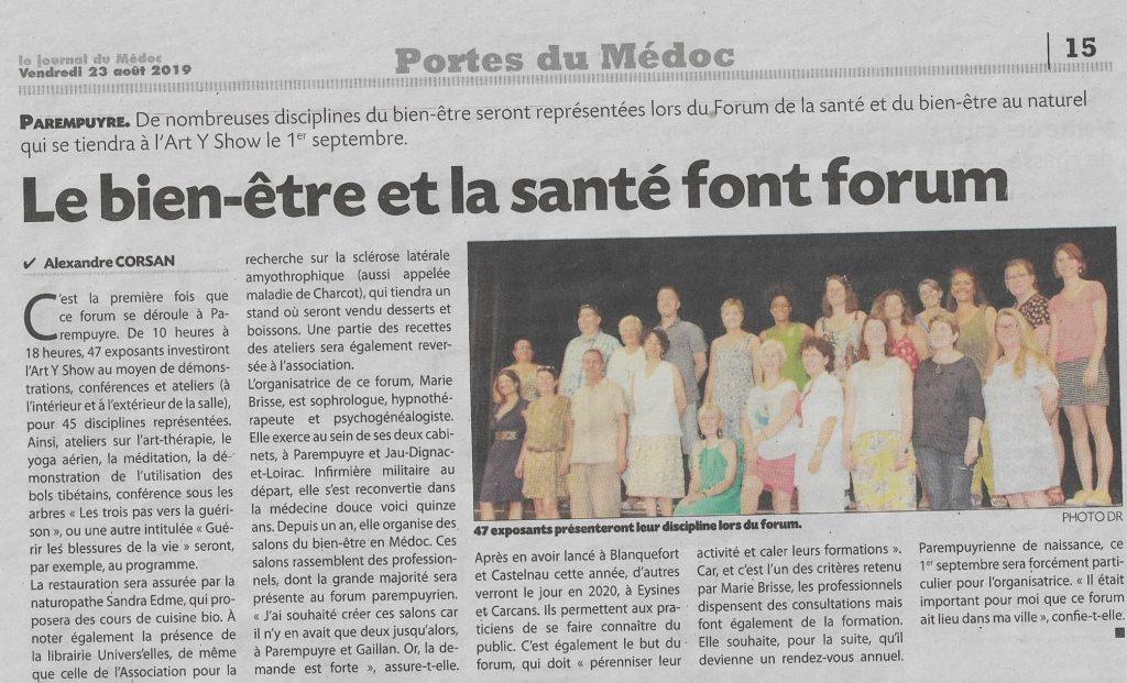 nathalie Boussinesq et le DEE présente au Forum de Parempuyre