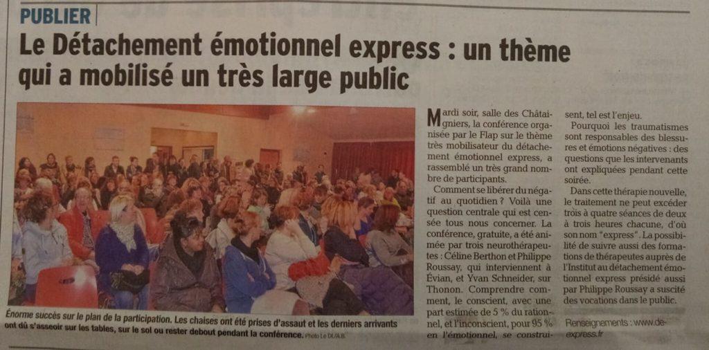 conférence le détachement emotionnel express