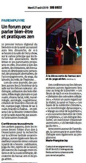 article annonce Nathalie Boussinesq et le détachement emotionnel express au salon de Parempuyre